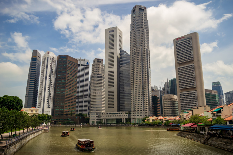 Singapore Central Business District and Boat Quay
