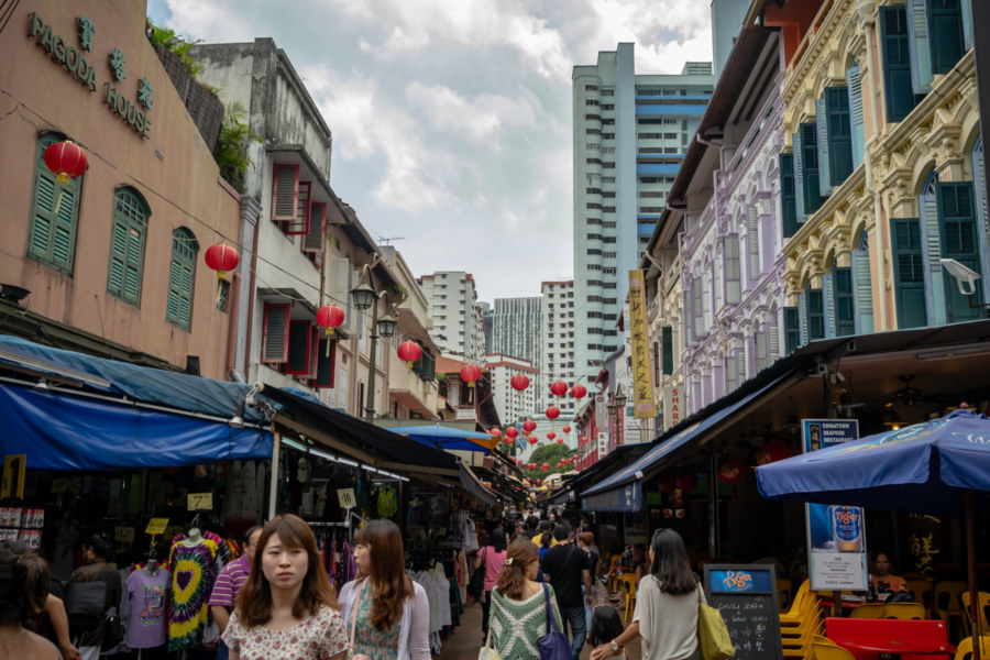 Taking a Stroll Through Chinatown in Singapore
