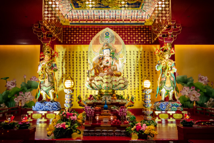 A Shrine in the Buddha Tooth Relic Temple
