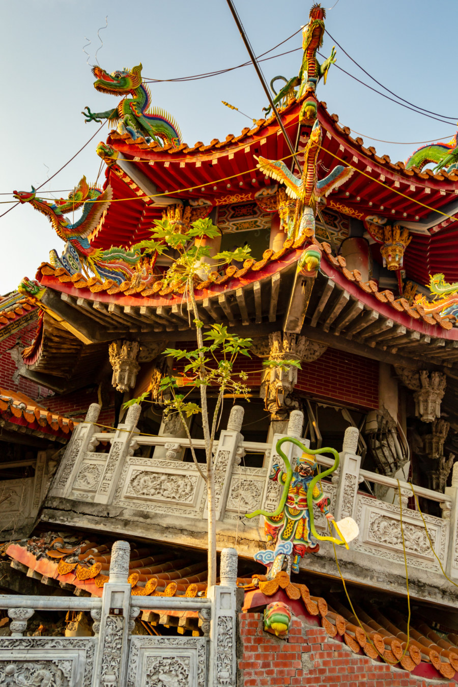 Wuchang Temple at an Odd Angle
