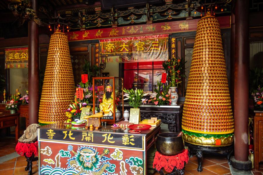 The main shrine at Kaihua Temple, Changhua City