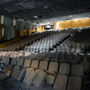 Oblique Interior Shot Inside Zhongyang Theater