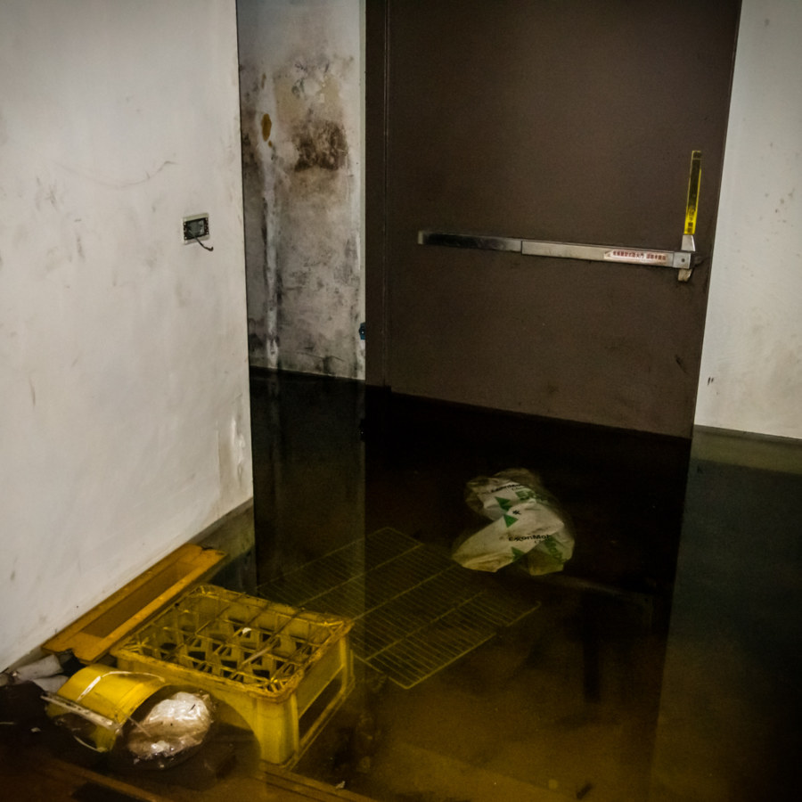 Flooded Basement at Grace Hill