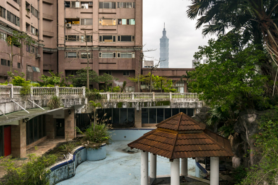 Taipei 101 and an Abandoned Pool