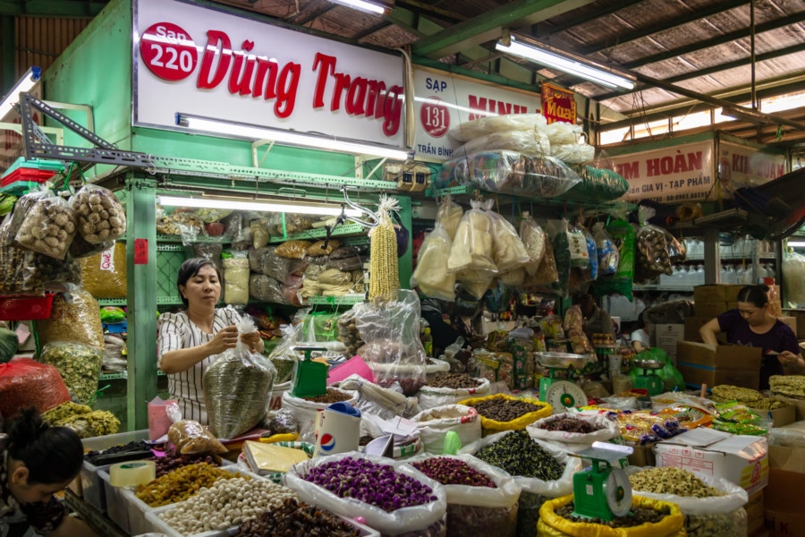 Dried Goods at Binh Tay Market