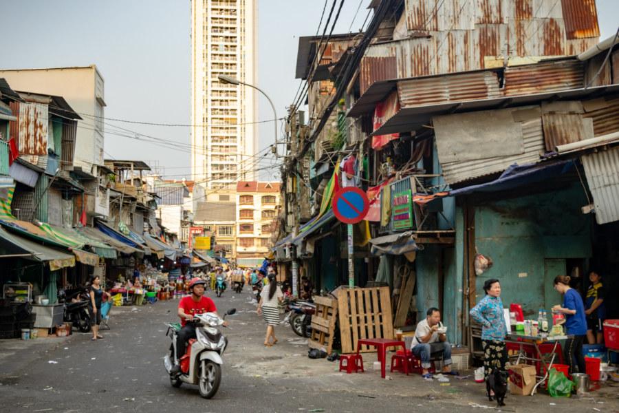Street Scene Behind Binh Tay Market