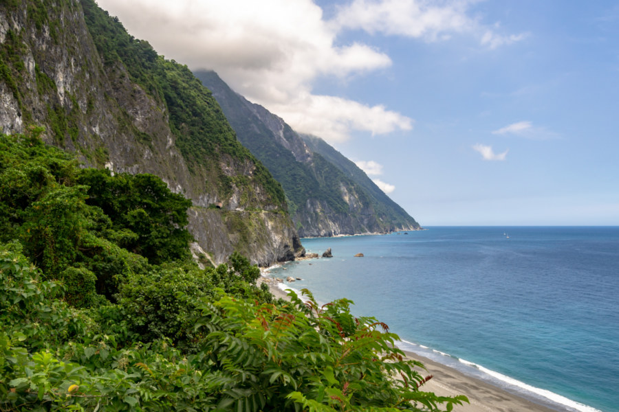 Looking North Along the Qingshui Cliffs