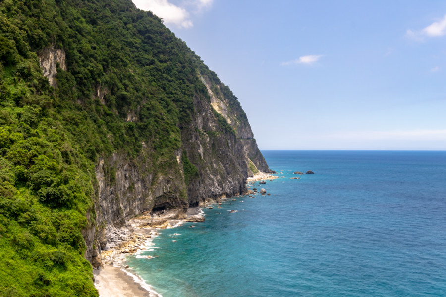 Qingshui Cliffs and the Deep Blue Pacific