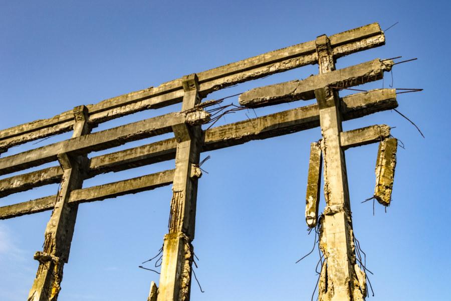 Skyward Remains of  the Agenna Shipyard