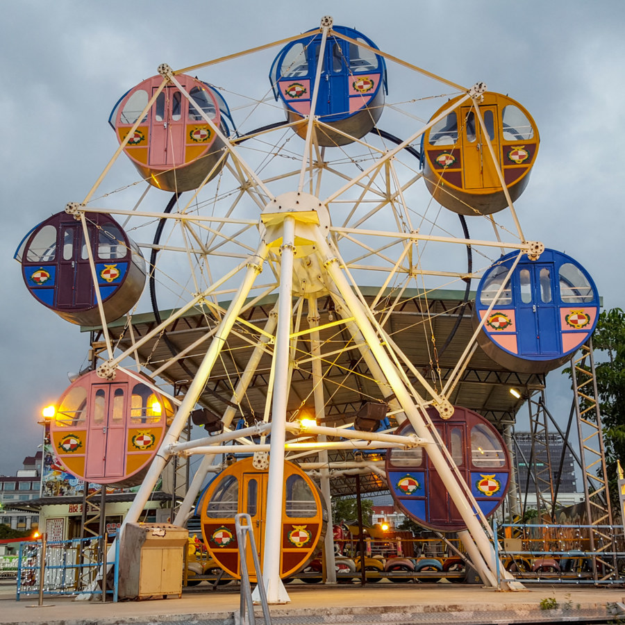 Fairground Rides on the Hualien Waterfront