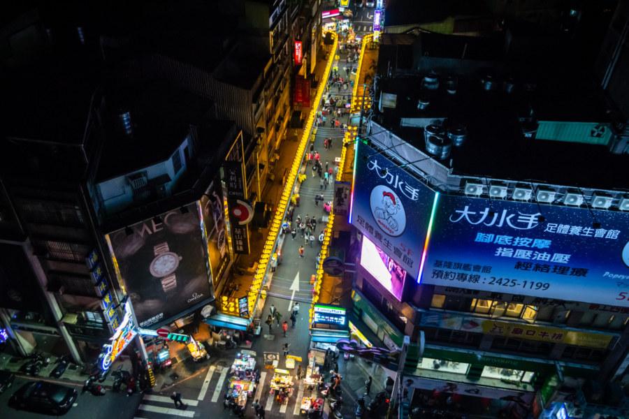 Miaokou Night Market From Above