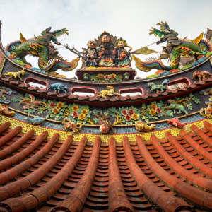 Qing'an Temple Rooftop Detail