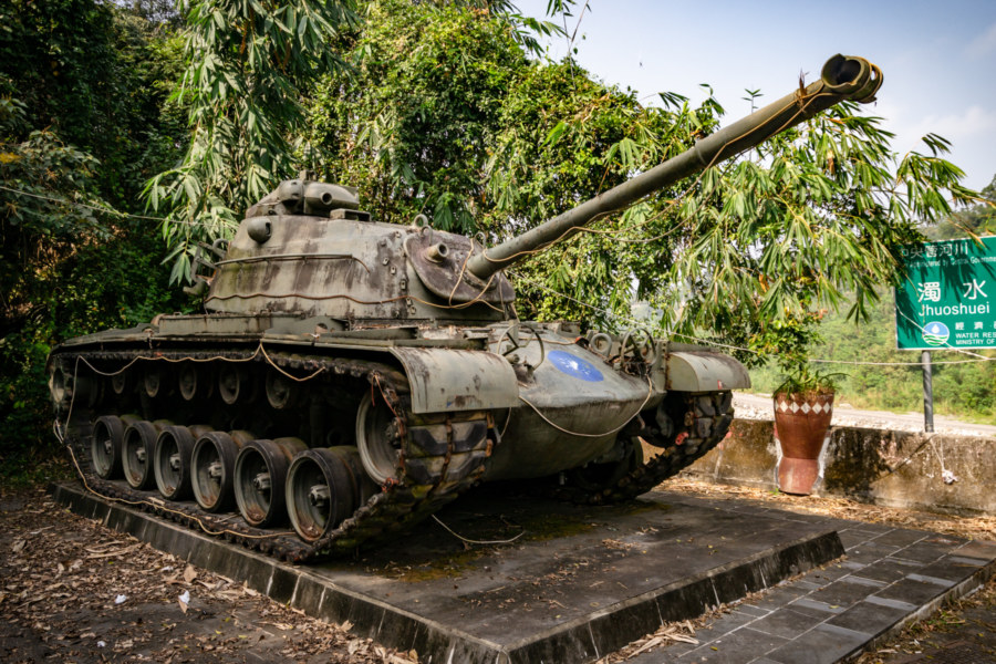 A Decommissioned M48A3 Tank in Xinyi Township