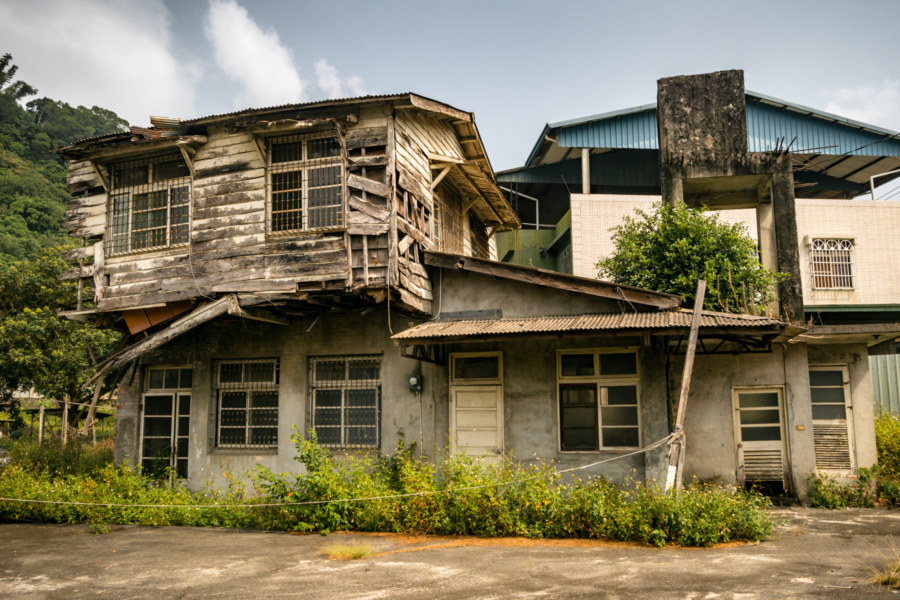 An Old Building on the Way Into Shuili