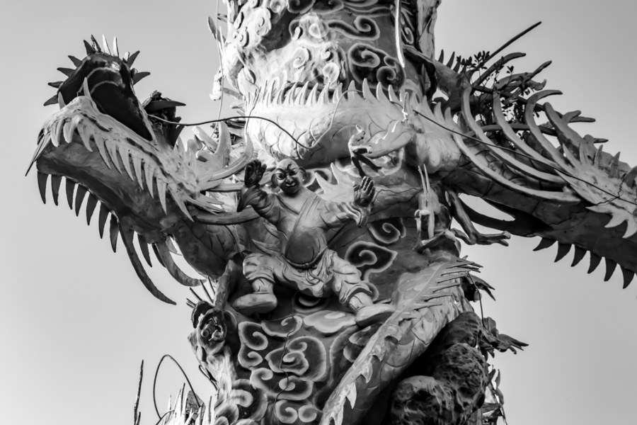 19 Dragon Column Detail