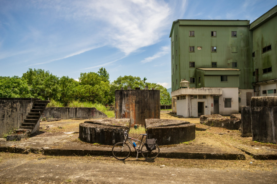 Two Wheels at the Hualien Sugar Factory