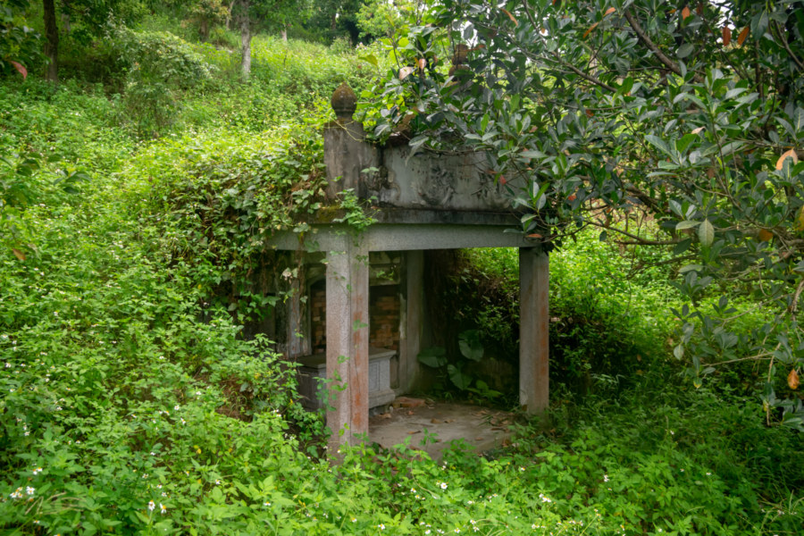 An Abandoned Tomb at the Former Shinto Shrine