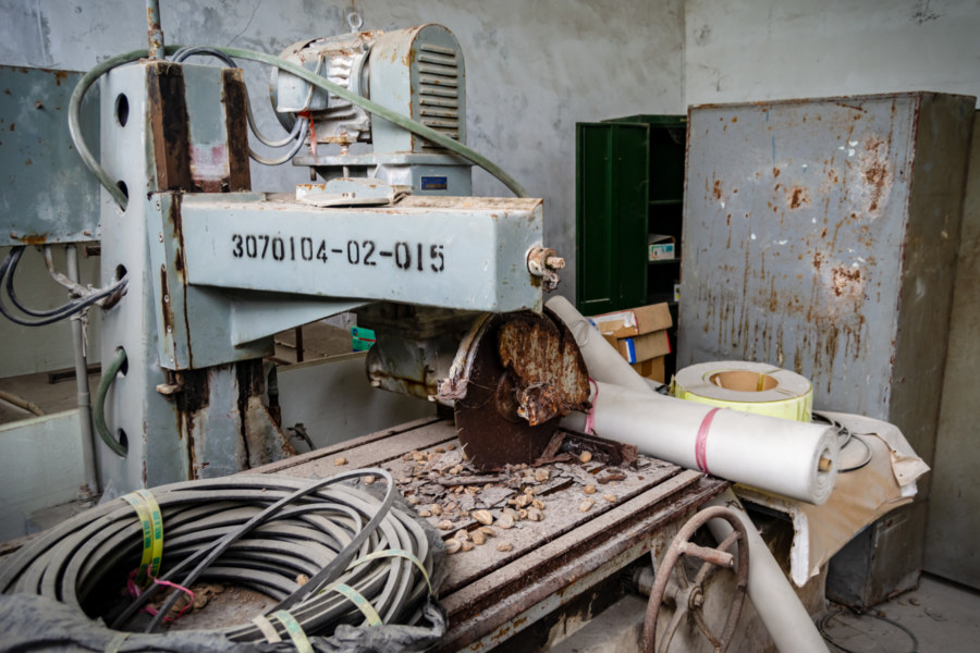 Derelict Marble Cutting Machine