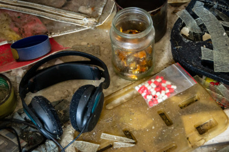 Abandoned Headphones and Pills