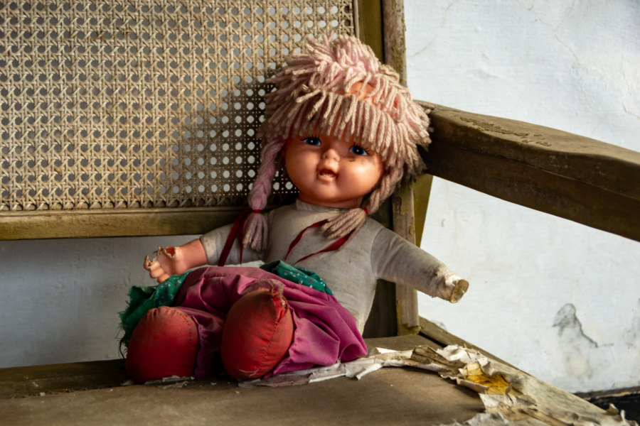 Creepy Doll in the Abandoned Signal Station