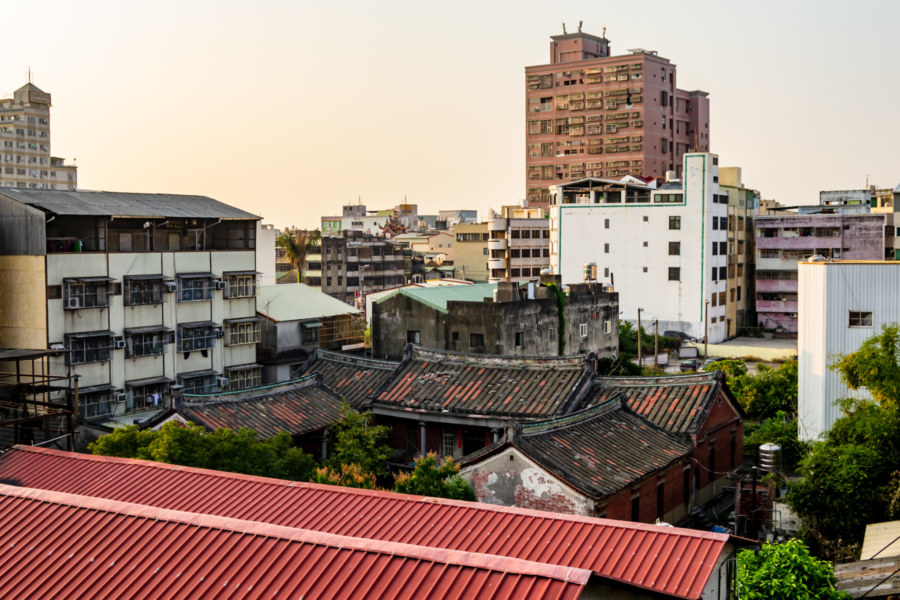 Jiyang Hall From the Rooftop of the Nearby Cannery