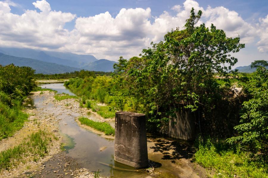 Bridge Pylons South of Antong