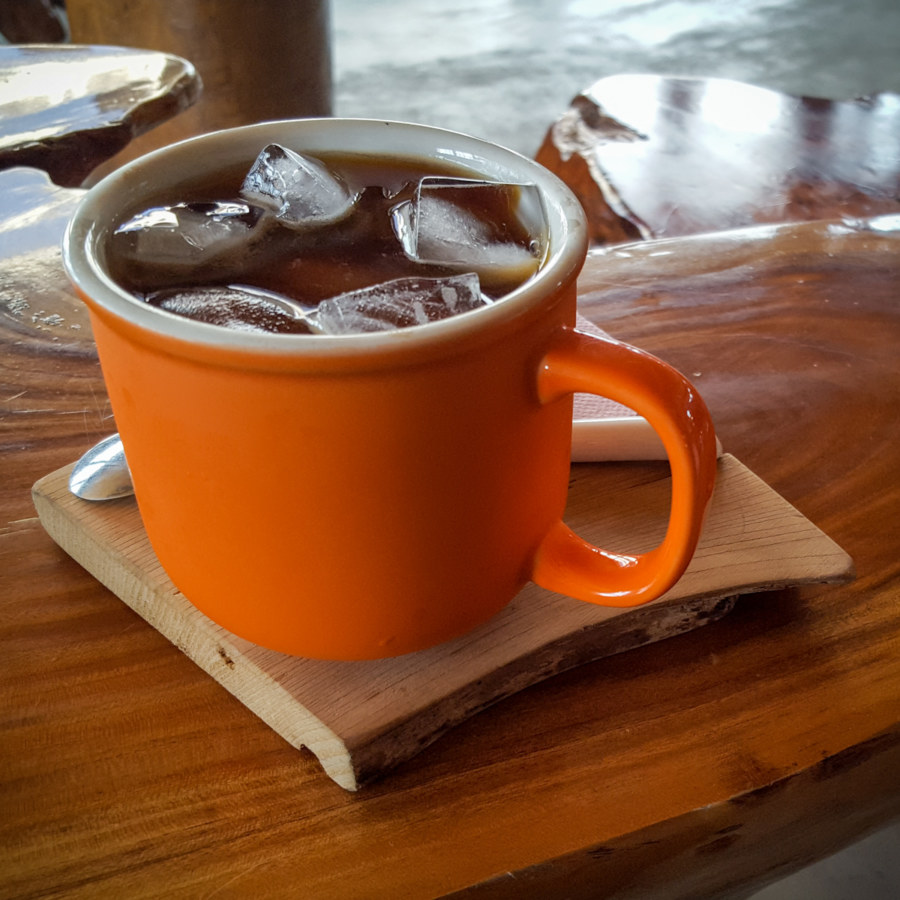 Iced Americano at Remote Mountains Cafe
