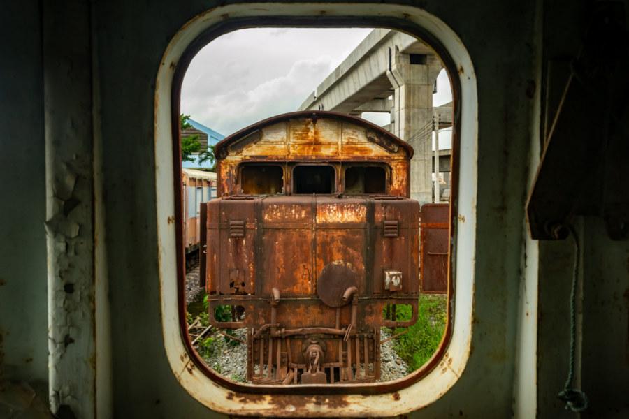 Through the Window in Bang Sue