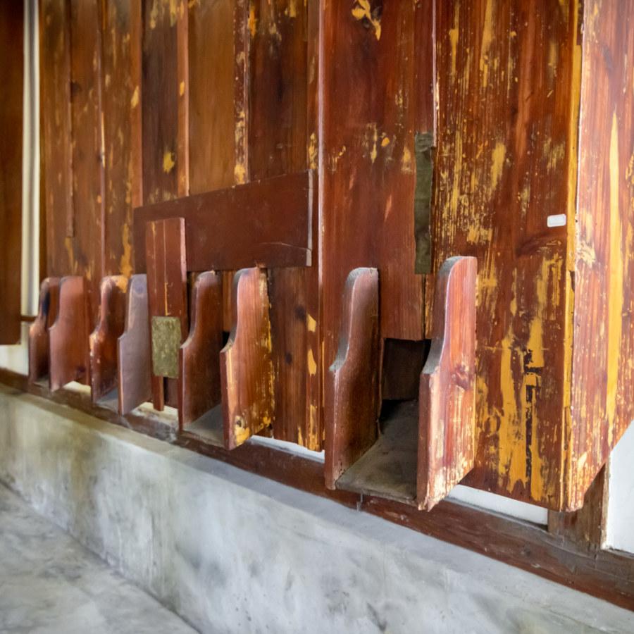 Wooden Nozzles at Shigang Rice Barn 石岡穀倉