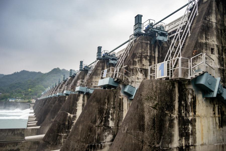 Up Close at Shigang Dam 石岡壩