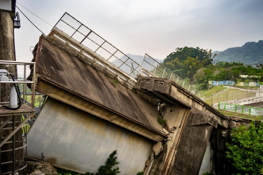 Earthquake Damage at Shigang Dam 石岡壩 1