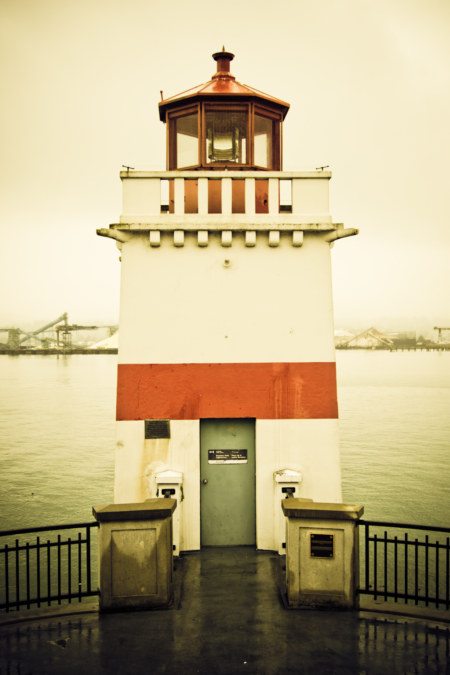 Stanley Park Lighthouse In The Cold
