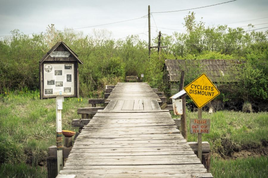 The entrance to Finn Slough