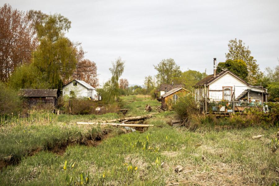 Old homes in Finn Slough