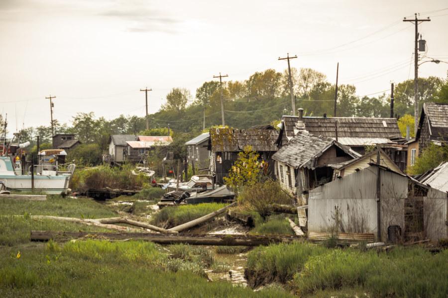 Inside the village of Finn Slough