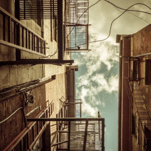 The alleyways of Old Montreal