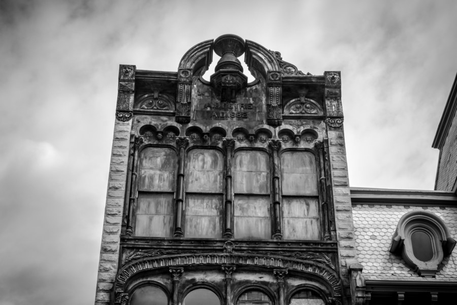 A.B. Petrie Building in greyscale