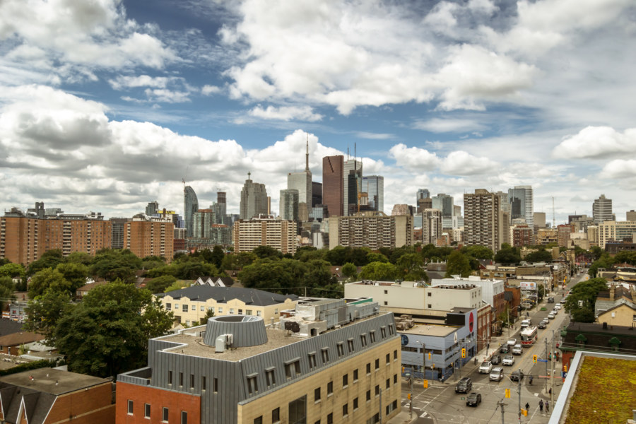 The downtown core from Regent Park