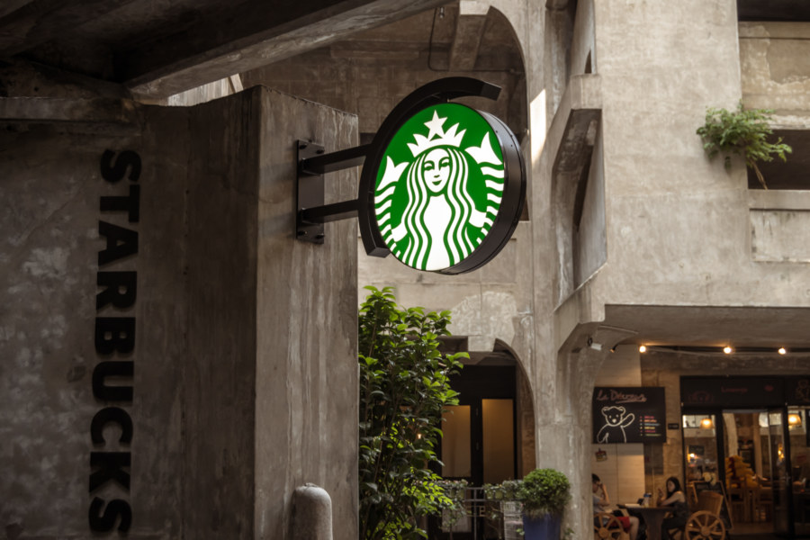 No slaughterhouse is complete without a Starbucks