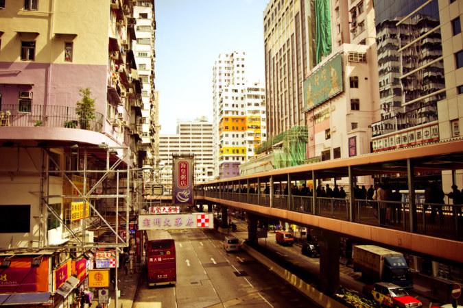 Mong Kok Pedestrian Overpass