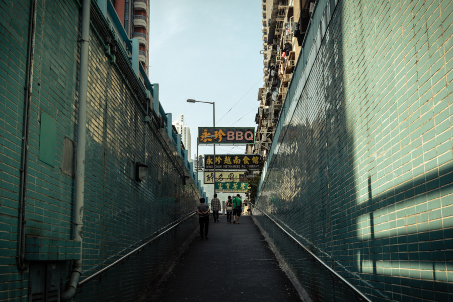 A pedestrian underpass on the edge of Kowloon City