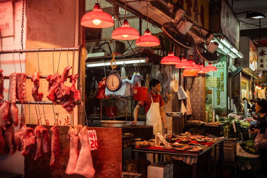 A butcher in Sham Shui Po