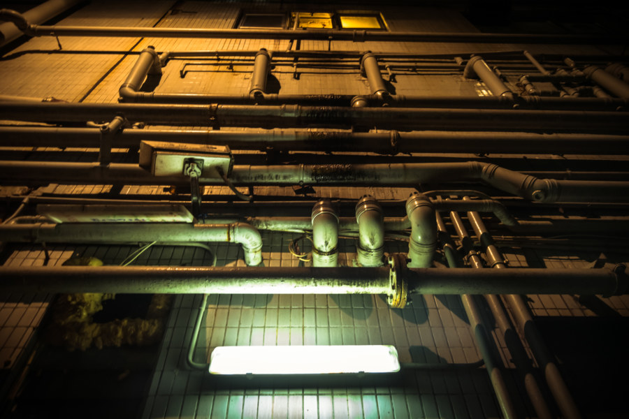 The dark alleyways of Kowloon