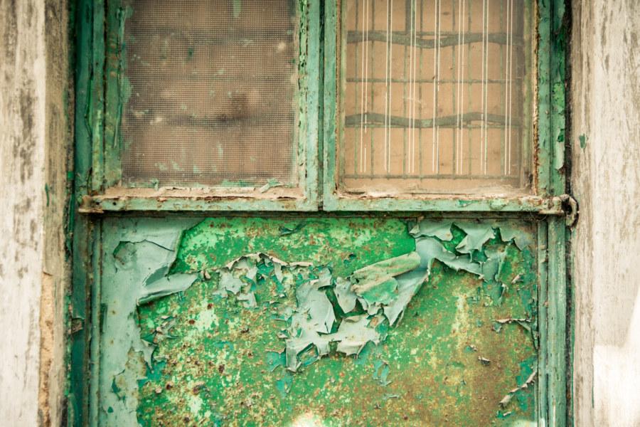 Gritty detail on an inner courtyard door