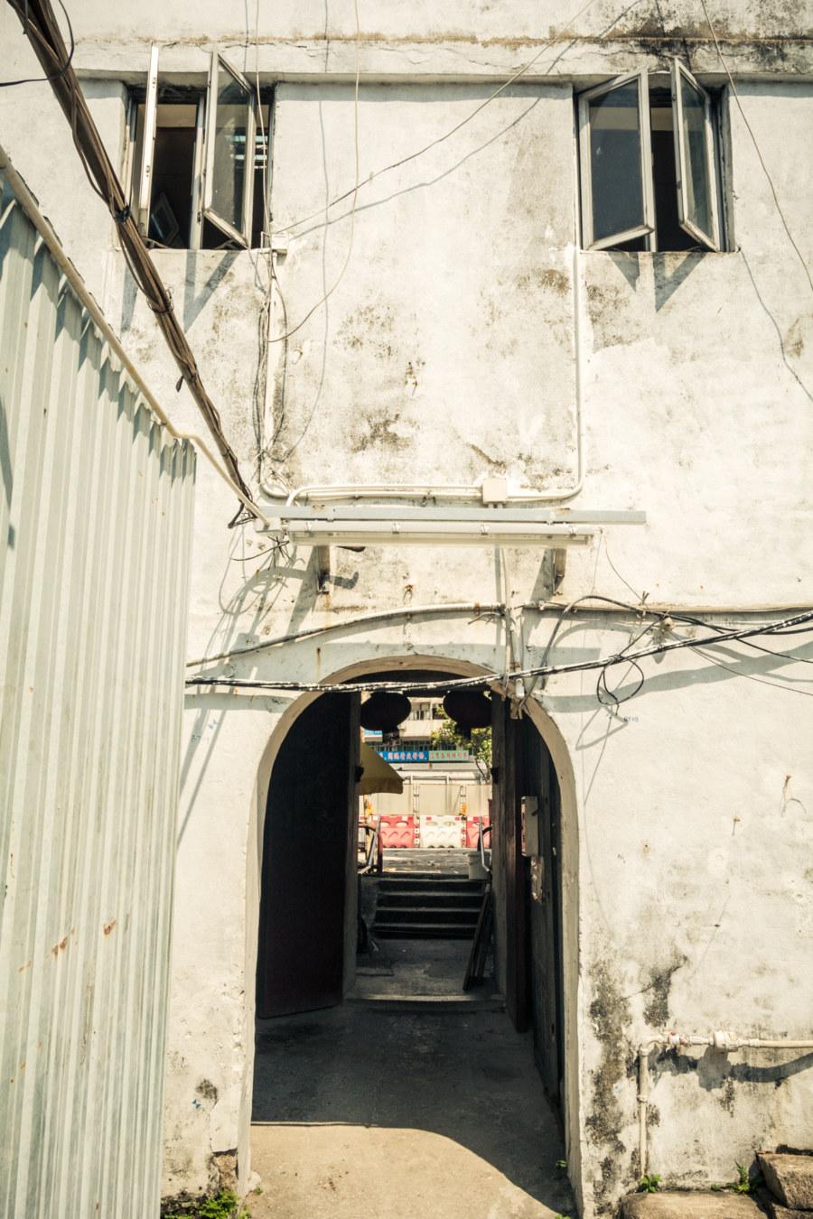 Inside the walled village of Nga Tsin Wai