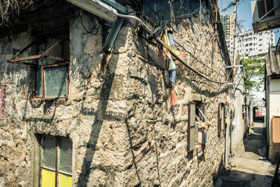 An old stone house in Nga Tsin Wai Village 衙前圍村