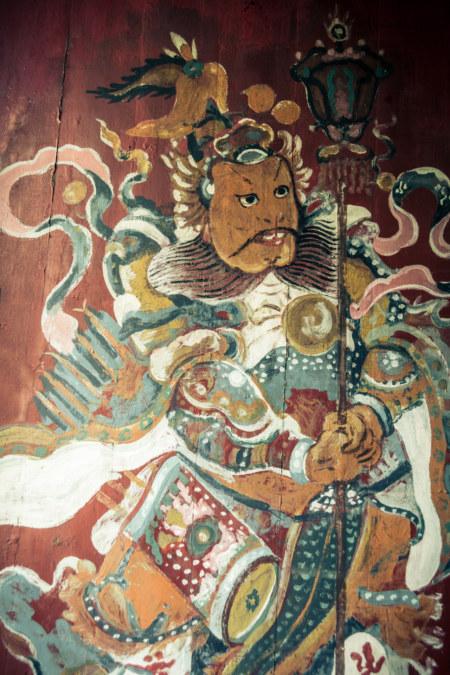 Door guardian in Nga Tsin Wai Village 衙前圍村