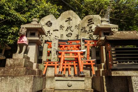 Tiny torii at Fushimi Inari Taisha