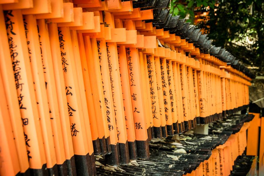 Thousands of wishes at Fushimi Inari Taisha