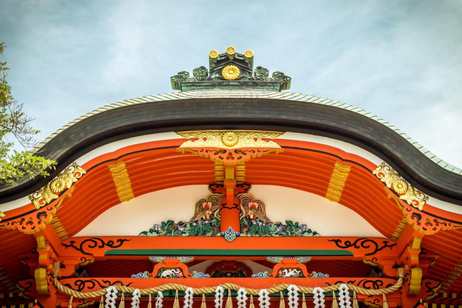 Ornate details at Fushimi Inari Taisha